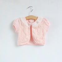 Summer lace flower empty thread female child short-sleeve cape clothing baby cloak waistcoat short cardigan