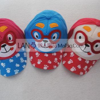 Baby hat male female child sunbonnet children baby animal cap baseball cap 123