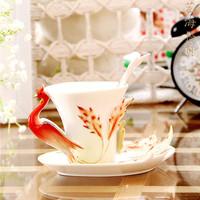 LOVE Porcelain enamel coffee cup ceramic relief coffee lovers cup