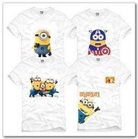 Free Shipping Size 90/100/110/120/130/140/150cm summer kids tshirt Despicable me minion cartoon printed t shirt 100% cotton