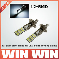 12-SMD Side-Shine H1 LED Bulbs For Fog Lights or High Beam Daytime Running Lights