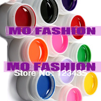 Free shipping 2013 new hot sale Mix 12 Pure Colors UV Builder Gel Set for Nail Art False Full French Tips Salon