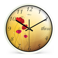 New fashion wall clock mute quartz clock and watch 333