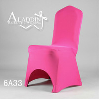 Discount Hot Sale !Universal fuchsia red Wedding Banquet Folding Polyester Spandex Hotel Quality Chair Covers  Wholesale
