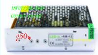 led 250W  power strip transformer/led driver Input:AC90~264V/Output:DC12v/24v   Free shipping