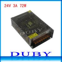 24V 3A 72W Switching Power Supply Driver For LED Strip light Display AC100V-240V Input,24V Output Free Shipping