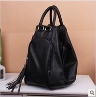 Bags 2013 women's handbag multi-purpose bag tassel backpack multifunctional backpack handbag school bag
