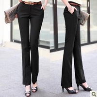 Ol white collar fabric suit overalls pants slim casual pants female trousers female overalls