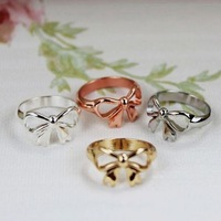 Min.order is $18 (mix order)Fashion simple bowknot metal ring
