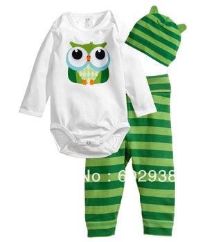 baby pajamas Long-sleeve suit underwear kids tshirts sleepwear bodysuit 12 sets/lot