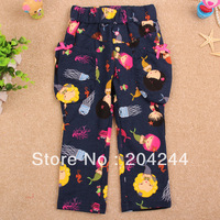 Free shipping NWT 5pcs/lot 18M~6Y girl printed mermaid & marine creature autumn long pant with two pocket