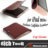 Free Shipping!Top Grade Italian Calfskin Leather Case for iPad mini Genuine Leather Protective Case for iPad,Black and Bordeaux
