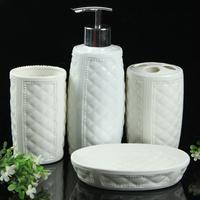 FREE SHIPPING Soap box ceramic bathroom set toiletries set bathroom four piece set decoration