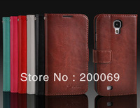 Luxury Magnetic Wallet Flip Leather Case Skin Cover For Samsung Galaxy S4 i9500+Free Screen Protector Free Shipping