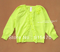 Free Shipping Girls wool cardigan coat thin air-conditioned shirt baby Spring and Autumn 2013 sweater wool sweater