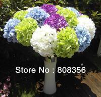"8Pcs 60cm/23.62""  Length Artificial Flowers SimulationSingle Hydrangea Wedding Flower Home Party Decoration Free Shipping"