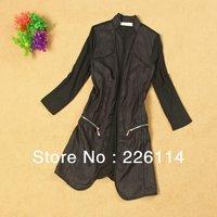Korean Fashion Wowen's Elastic silk cotton new spring and summer 2013 MS long sleeve shirt collar shirt color