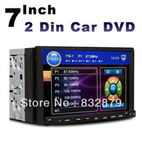 "universal 2 two Din 7"" Car DVD player GPS(optional), audio Radio stereo,FM,USB/SD,SWC digital touch screen IN Dash head Deck"