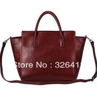 2013 genuine leather cowhide casual OL elegant vintage women's handbag large bag shoulder bag messenger bag free shipping