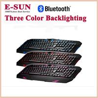 Tarantulas day bead light backlit keyboard three color backlighting game keyboard for LOL/WOW programming keyboard Free Shipping