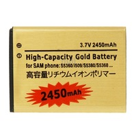 2450mAh High Capacity Gold Business Battery for Samsung Galaxy Y / S5360