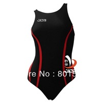 Job black combinated red beautifully designed and less resistance one-piece compression swimwear  501032