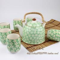 Jingdezhen ceramic tea set tea time teapot set hot-selling green