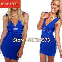 Free shipping 2013 Newest  Lace hollow out  black & white & blue   Bandage Dress HL  Evening prom Dresses HL726
