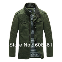 Free shipping 2013 New Men's clothing slim top stand collar casual jacket supreme sweatshirts coat for men jacket overcoat