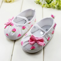 Children cotton soft sole shoes baby girls white floral toddler shoes kids Elastic baby shoes first walker shoes 1408