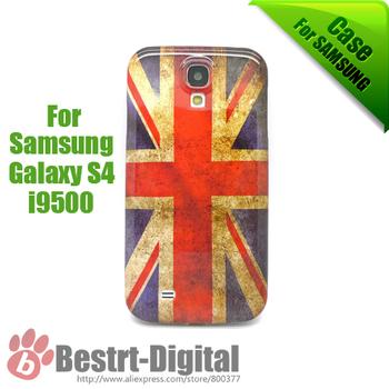 1Pcs Only, Retro United Kingdom Flag, Plastic Skin Cover Case for Samsung Galaxy S4 i9500, Galaxy S IIII case, Back Grip Case