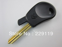 Free shipping no button car key blank shell case remote fob X type blade for Citroen ZX Elysee