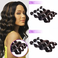 Queen hair products Indian human hair mixed length 2pcs/lot,100g/pc,virgin body wave hair  with natural color free shipping