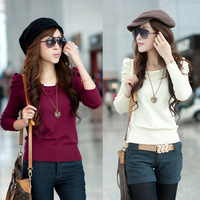 2013 spring new arrival women's slim long-sleeve pullover sweater basic shirt sweater