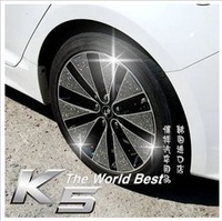 Free shipping CoolFlash point kia K5  K2 tire wheel stickerscarbon fiber sticker  carbon fiber wheel decorative stickers