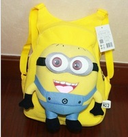 Despicable me milk minions plush toy doll school bag minions free shipping minions plush despicable me