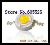 50pcs/LOT   High power Epistar chip 1W 100-110LM 3.2-3.4V Warm White led lamp 3000-3200K