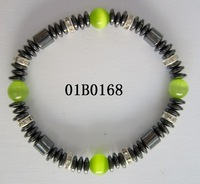 Hematite Green Cat's Eye Beads bracelet