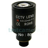 New 9-22mm Manual Focus Zoom Focal MTV Mount Lens For CCTV Home Security IR Infrared Camera