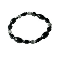 Fashion Hematite Cat's Eye Beaded Bracelets