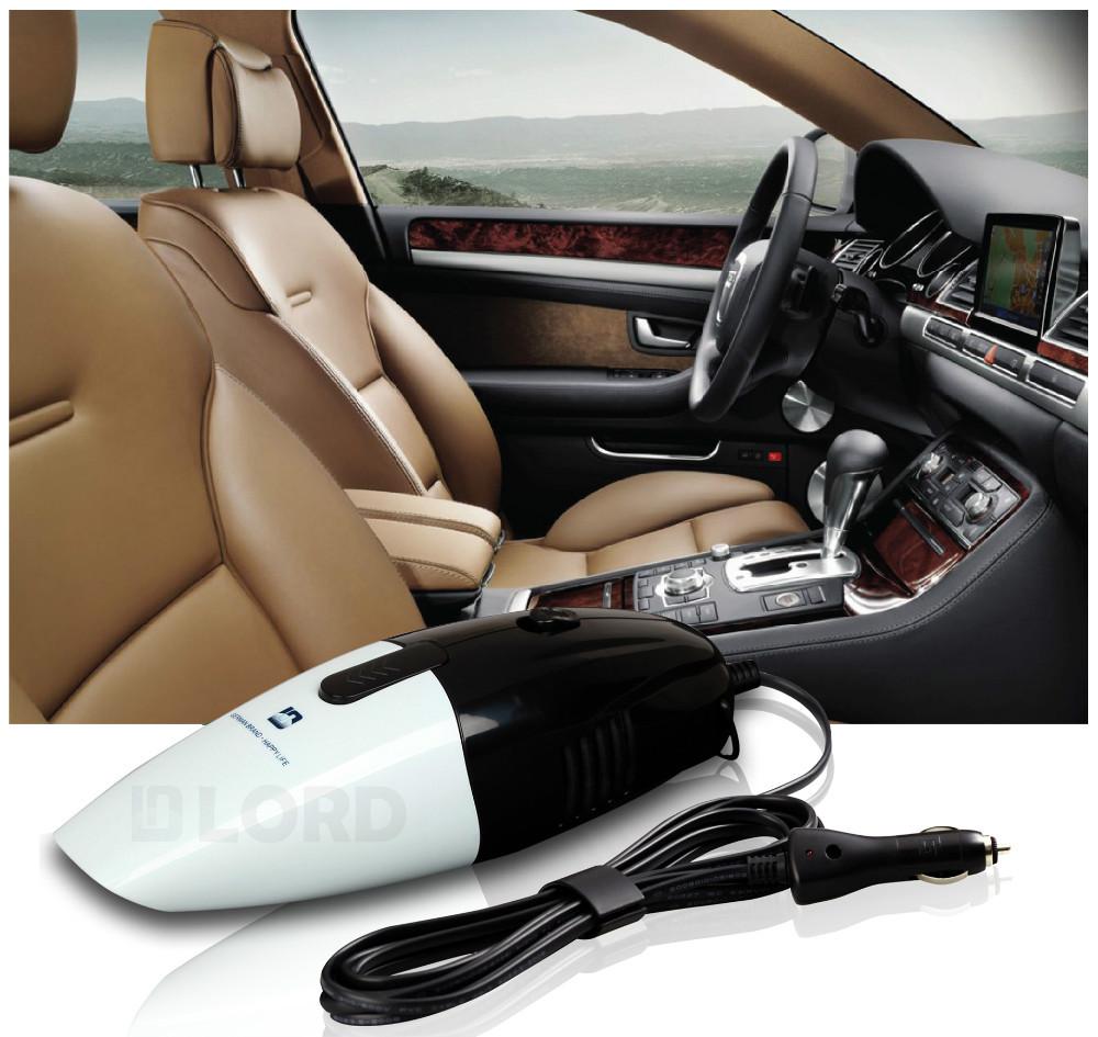 Handheld Powerful Auto Mini Dry Vacuums 12v 75w Black and white(China (Mainland))