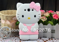 Free shipping Brand new high quality 3D Hello kitty soft case For Samsung Galaxy S3 i9300