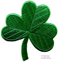 Free Shipping ~ GREEN CLOVER PATCH - IRISH SHAMROCK  Embroidered Iron On Patch ~ can be sewed ~ DIY Applique