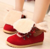 new arrival half boots women sexy snow warm lady boot winter footwear flat shoes fashion EUR size 34-43 S687