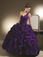 2013 New Arrival A-line Beading Taffeta One Shoulder Quinceanera Dresses OQ204