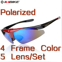 Free Shipping Brand Inbike Cycling Bicycle Bike Outdoor Sports Sun Glasses Eyewear Goggle Sunglasses - 5 Lens Polarized