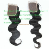 Discount!Wavy Lace closure Peruvian virgin hair 3.5x4 Full lace top closure body wave 1b# Can be dyed ,free shipping !