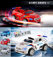 Ledea 833 child bicycle electric toy car child remote control police car child electric car