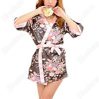 Sexy Japanese Kimono BathRobe Women Sleepwear Dress NightGown Lingerie Nightdress Pajamas Night Gown Nightwear 064O