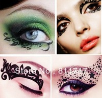 100 sets/lot Fashion Easy To Remove Eye Shadow Eyeliner Eye Liner Stickers Temporary Tattoos